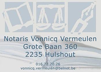 Notaris Vonnicq Vermeulen